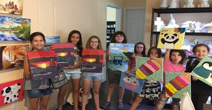 artsy parties at painting pottery cafe in englewood nj dedicated